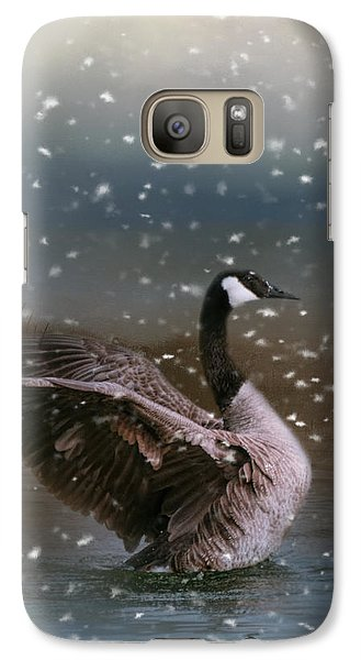 Snowy Swim Galaxy S7 Case by Jai Johnson