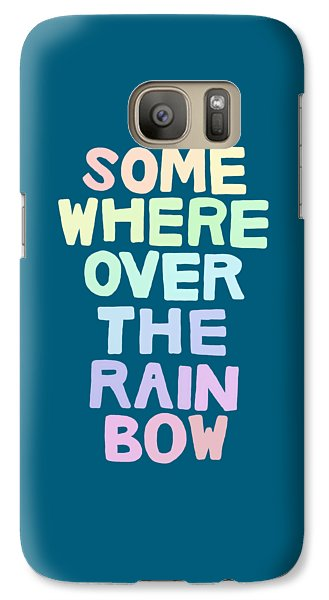 Somewhere Over The Rainbow Galaxy Case by Priscilla Wolfe