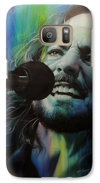 Eddie Vedder - ' Spectrum Of Vedder ' Galaxy Case by Christian Chapman Art