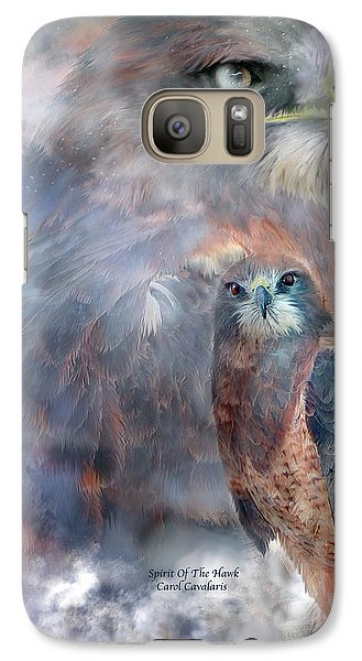Spirit Of The Hawk Galaxy Case by Carol Cavalaris