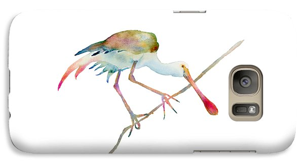 Spoonbill  Galaxy S7 Case by Amy Kirkpatrick