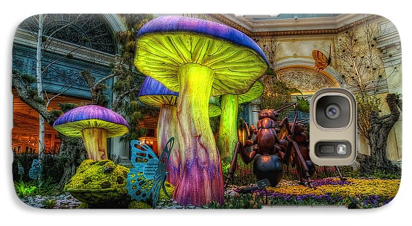 Spring Mushrooms Galaxy Case by Stephen Campbell