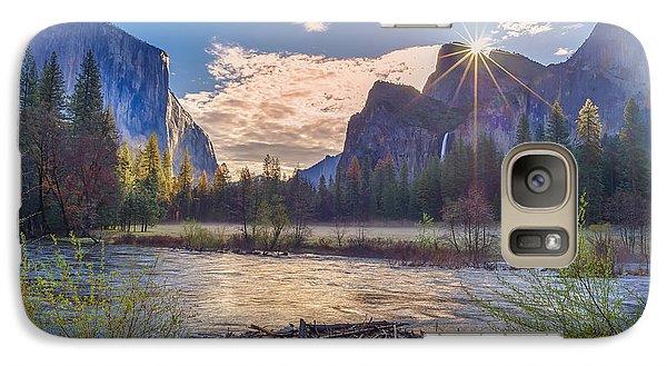 Spring Sunrise At Yosemite Valley Galaxy Case by Scott McGuire