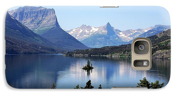 St Mary Lake - Glacier National Park Mt Galaxy Case by Christine Till