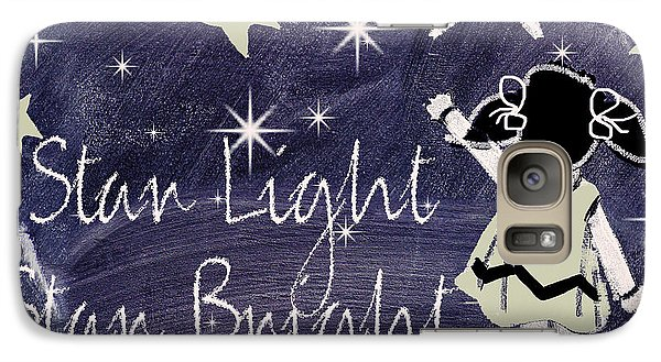 Star Light Star Bright Chalk Board Nursery Rhyme Galaxy S7 Case by Mindy Sommers