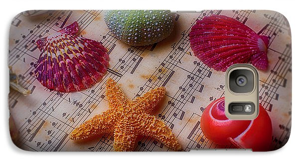 Starfish On Sheet Music Galaxy S7 Case by Garry Gay