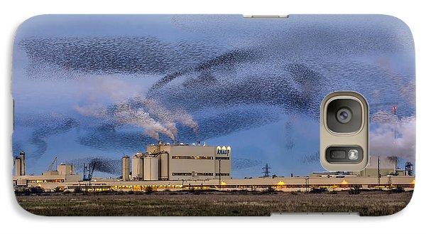 Starling Mumuration Galaxy Case by Ian Hufton