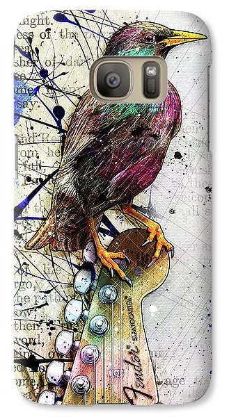 Starling On A Strat Galaxy Case by Gary Bodnar