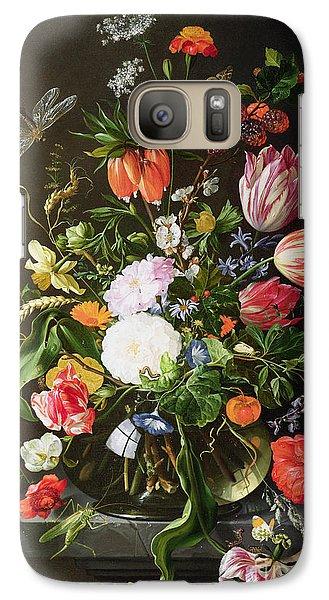 Still Life Of Flowers Galaxy Case by Jan Davidsz de Heem