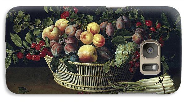 Still Life With A Basket Of Fruit And A Bunch Of Asparagus Galaxy S7 Case by Louise Moillon
