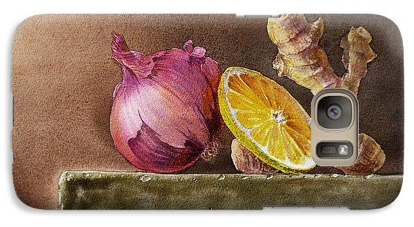 Still Life With Onion Lemon And Ginger Galaxy Case by Irina Sztukowski