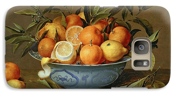 Still Life With Oranges And Lemons In A Wan-li Porcelain Dish  Galaxy S7 Case by Jacob van Hulsdonck