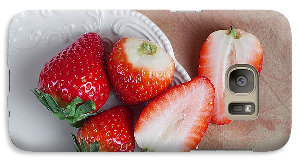Strawberries From Above Galaxy Case by Tom Mc Nemar