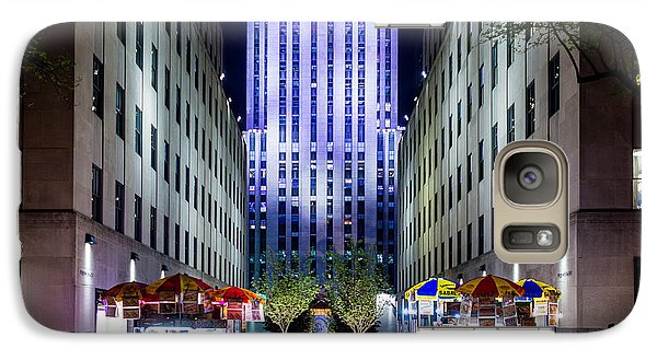 Galaxy Case featuring the photograph Rockefeller Center by M G Whittingham