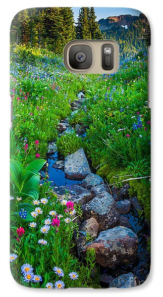 Summer Creek Galaxy Case by Inge Johnsson