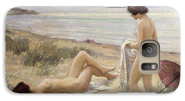 Summer On The Beach Galaxy Case by Paul Fischer