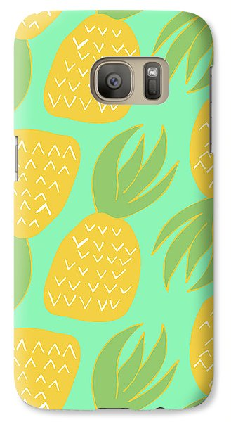 Summer Pineapples Galaxy S7 Case by Allyson Johnson