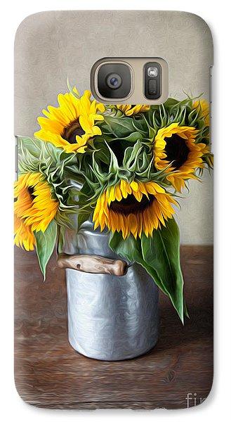 Sunflowers Galaxy S7 Case by Nailia Schwarz