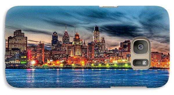 Sunset Over Philadelphia Galaxy Case by Louis Dallara