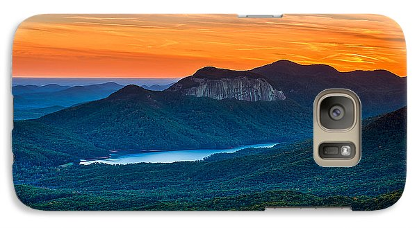 Sunset Over Table Rock From Caesars Head State Park South Carolina Galaxy S7 Case by T Lowry Wilson