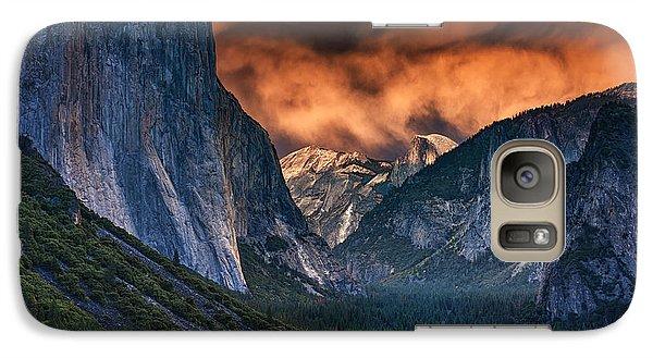 Sunset Skies Over Yosemite Valley Galaxy Case by Rick Berk