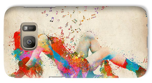 Sweet Jenny Bursting With Music Galaxy S7 Case by Nikki Smith