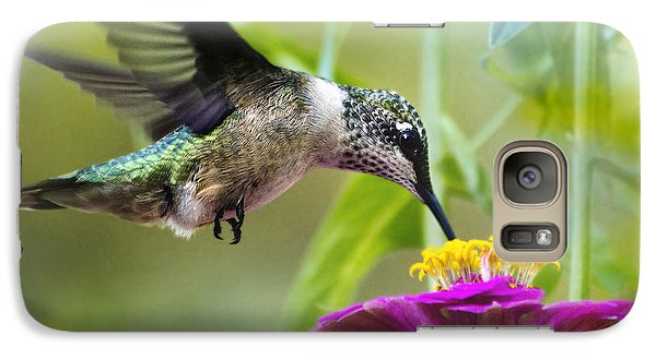 Sweet Success Hummingbird Square Galaxy Case by Christina Rollo