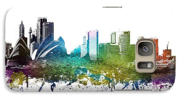 Sydney Cityscape 01 Galaxy S7 Case by Aged Pixel