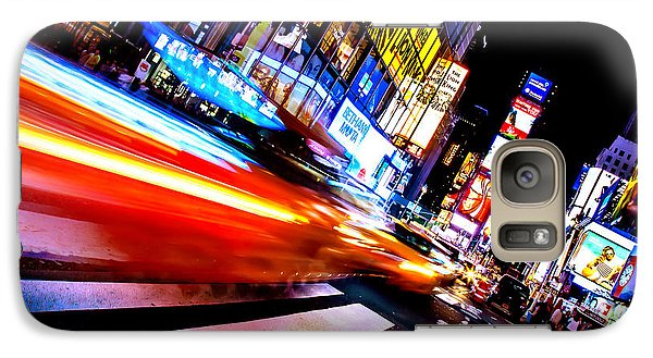 Taxis In Times Square Galaxy Case by Az Jackson