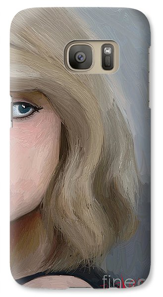 Taylor Swift  Galaxy S7 Case by Barbara Stanley
