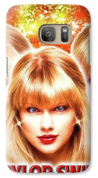 Taylor Swift - Beautiful Vision Galaxy S7 Case by Robert Radmore