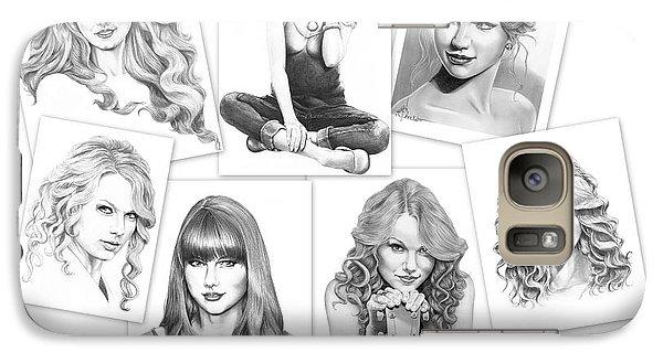 Taylor Swift Collage Galaxy Case by Murphy Elliott