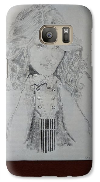Taylor Swift Galaxy S7 Case by Jiyad Mohammed nasser