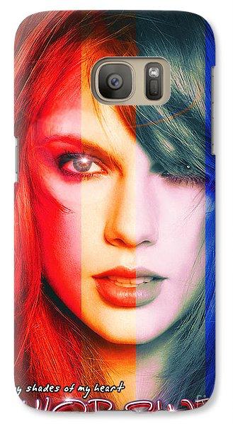 Taylor Swift - Sparks Alt Version Galaxy Case by Robert Radmore