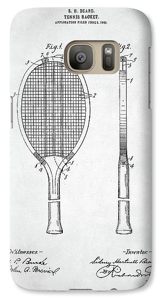 Tennis Racket Patent 1907 Galaxy S7 Case by Taylan Soyturk