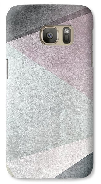 Textured Geometric Triangles Galaxy S7 Case by Pati Photography