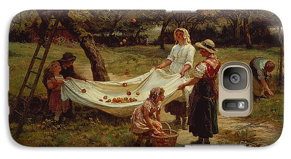 The Apple Gatherers Galaxy Case by Frederick Morgan