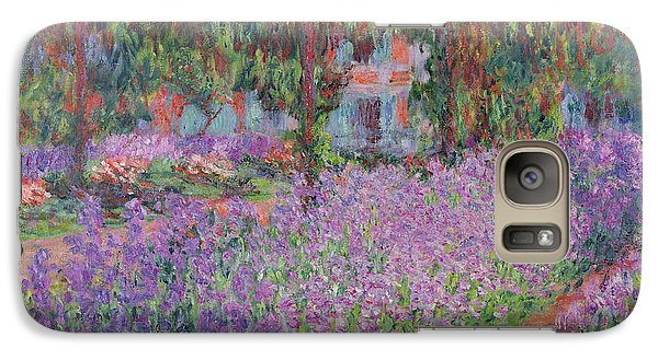 The Artists Garden At Giverny Galaxy Case by Claude Monet