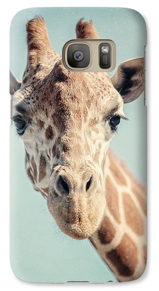The Baby Giraffe Galaxy Case by Lisa Russo