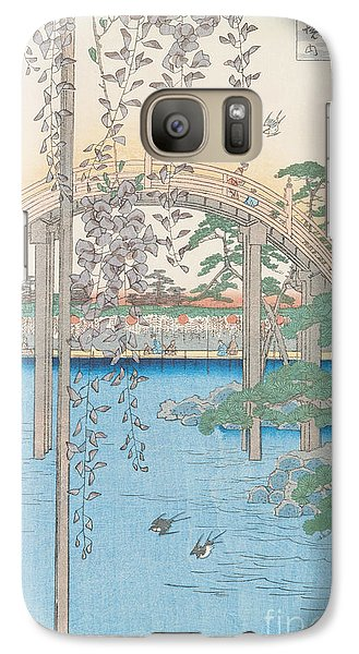 The Bridge With Wisteria Galaxy Case by Hiroshige