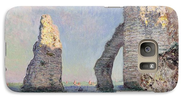 The Cliffs At Etretat Galaxy S7 Case by Claude Monet