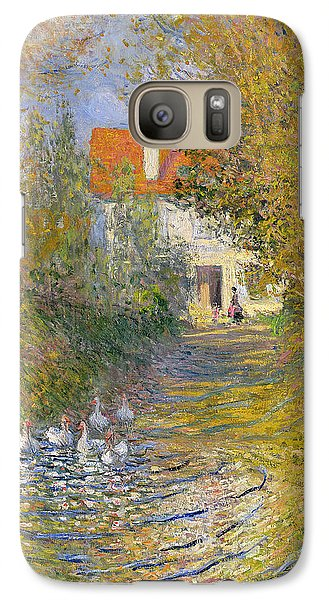 The Duck Pond Galaxy Case by Claude Monet
