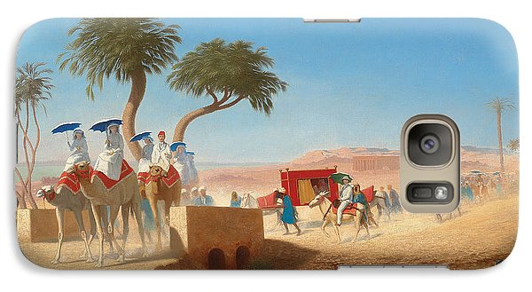 The Empress Eugenie Visiting The Pyramids Galaxy S7 Case by Charles Theodore Frere
