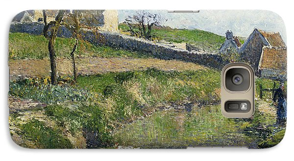 The Farm At Osny Galaxy Case by Camille Pissarro