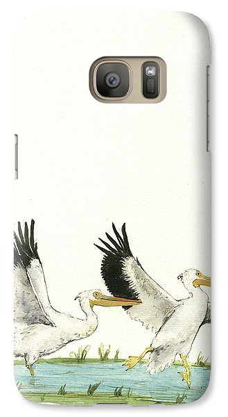 The Fox And The Pelicans Galaxy S7 Case by Juan Bosco
