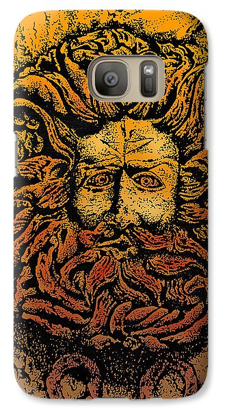 The Gorgon Man Celtic Snake Head Galaxy S7 Case by Larry Butterworth