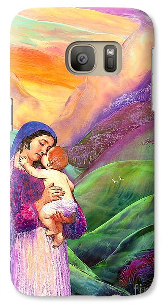 Virgin Mary And Baby Jesus, The Greatest Gift Galaxy S7 Case by Jane Small