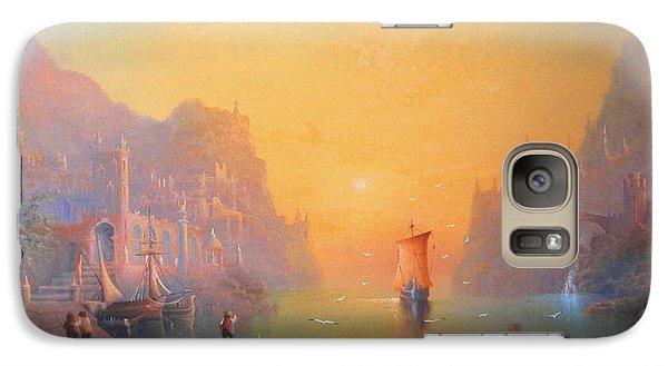 The Grey Havens. The Gulls Lament.  Oil On Canvas Galaxy Case by Joe  Gilronan