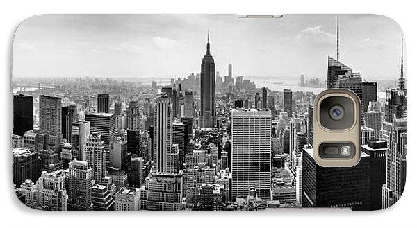 New York City Skyline Bw Galaxy S7 Case by Az Jackson