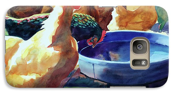 The Henhouse Watering Hole Galaxy S7 Case by Kathy Braud